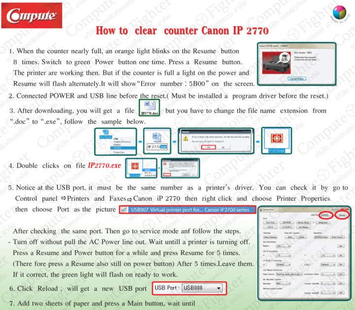 How to Reset Counter Canon ip2770 | Printer Repair and