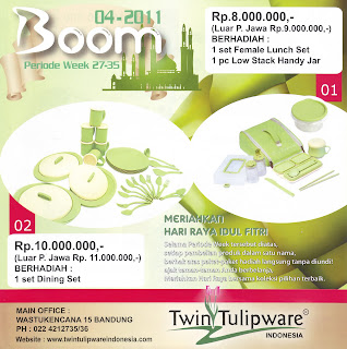 BOOM 1 & 2  Tulipware Juli - Agustus 2011
