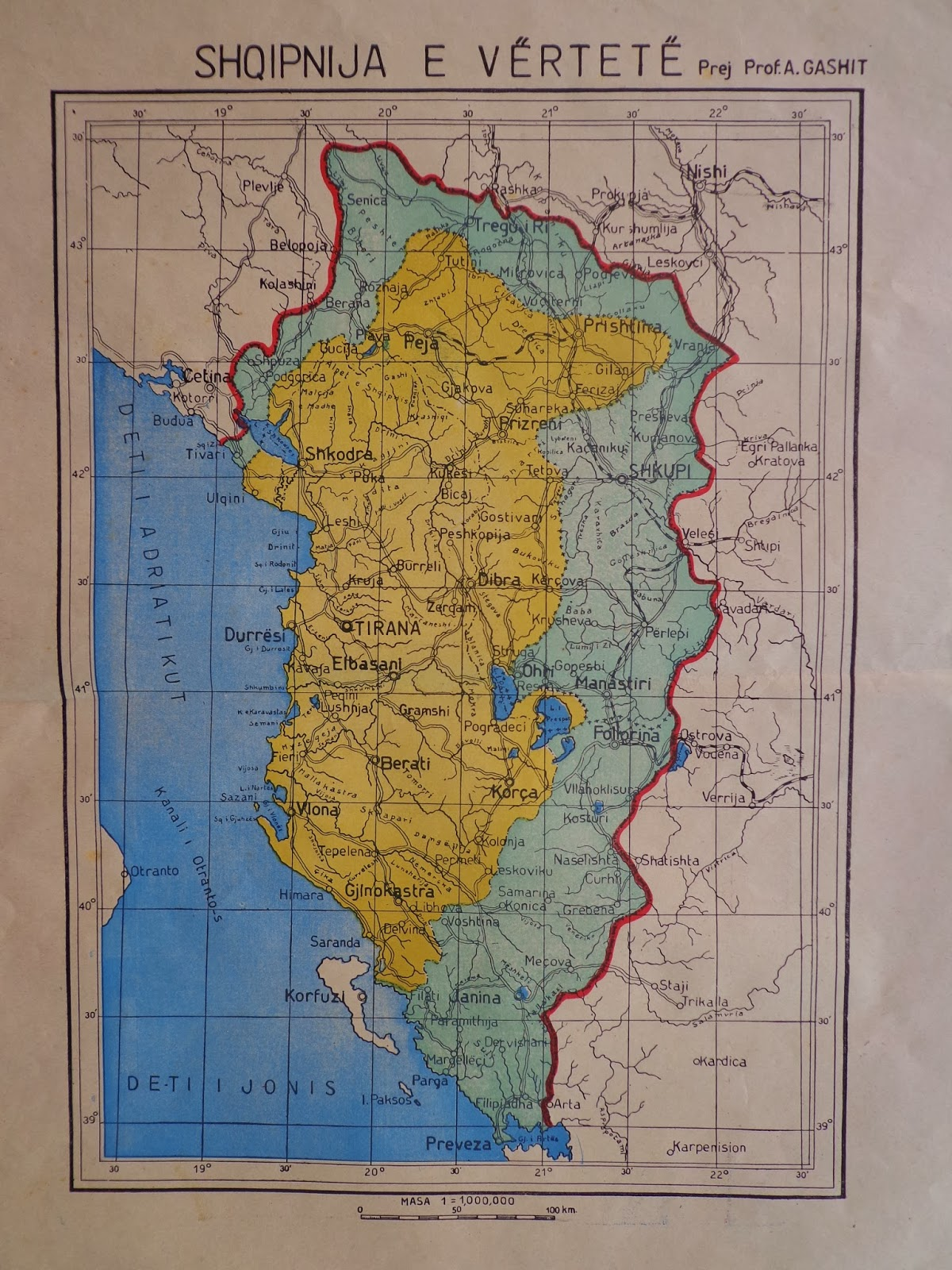 Hapet Arkivi i Shtetit Zbulohet harta e rrallë e kufijve të Shqipërisë