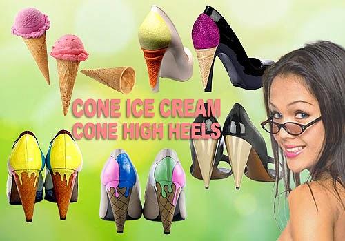Sepatu Wanita Model Cone Heels