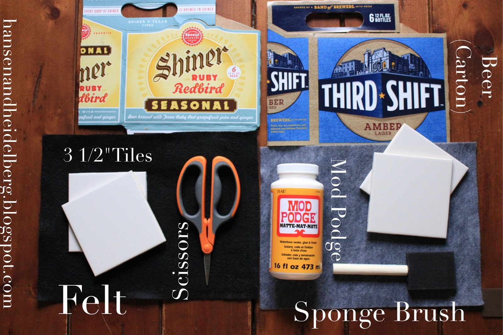 diy beer carton coasters, men's gifts, diy gifts
