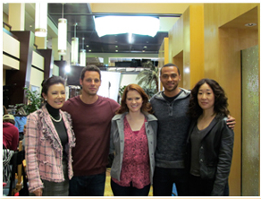 Oh  Justin Chambers  Jesse Williams  amp  Sarah Drew On The Set Of Grey sJesse Williams And Sarah Drew