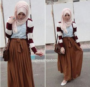 Colletion Popular Hijab Outfit Ideas For School