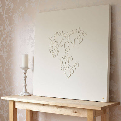 Make your own falling in LOVE canvas