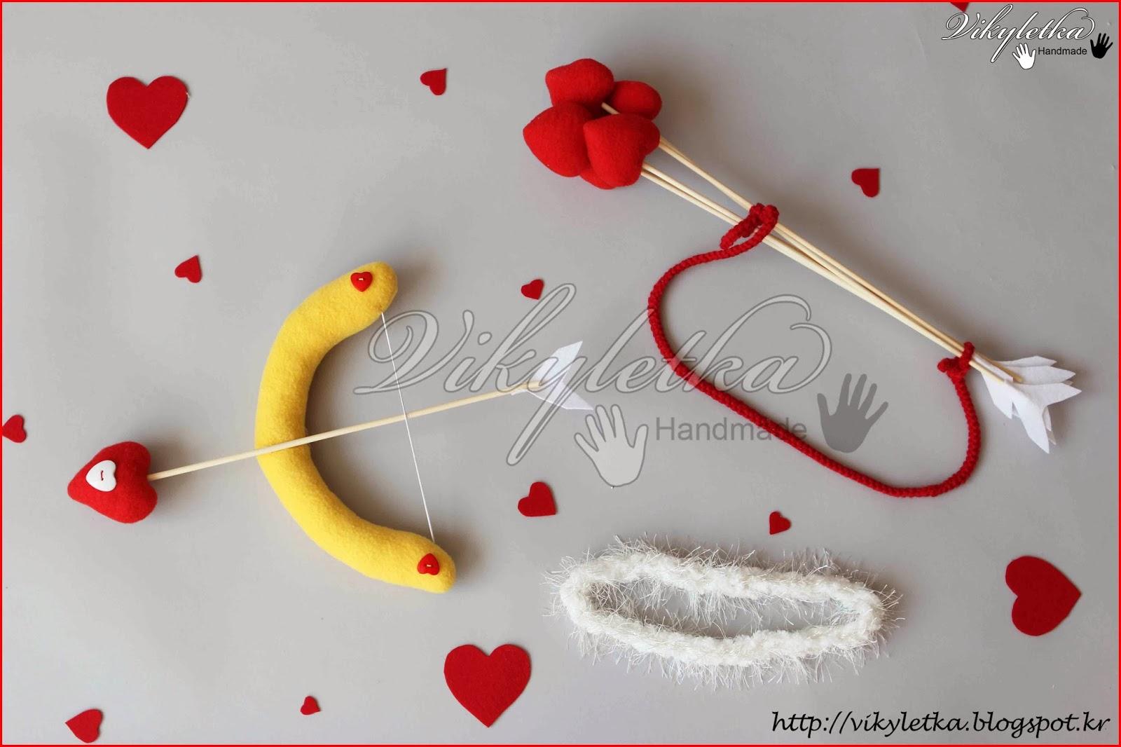 Лук и стрелы купидона своими руками