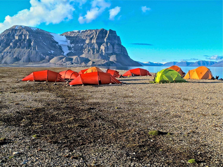 Gipsdalen, guardando el campamento (4.00 a.m.)