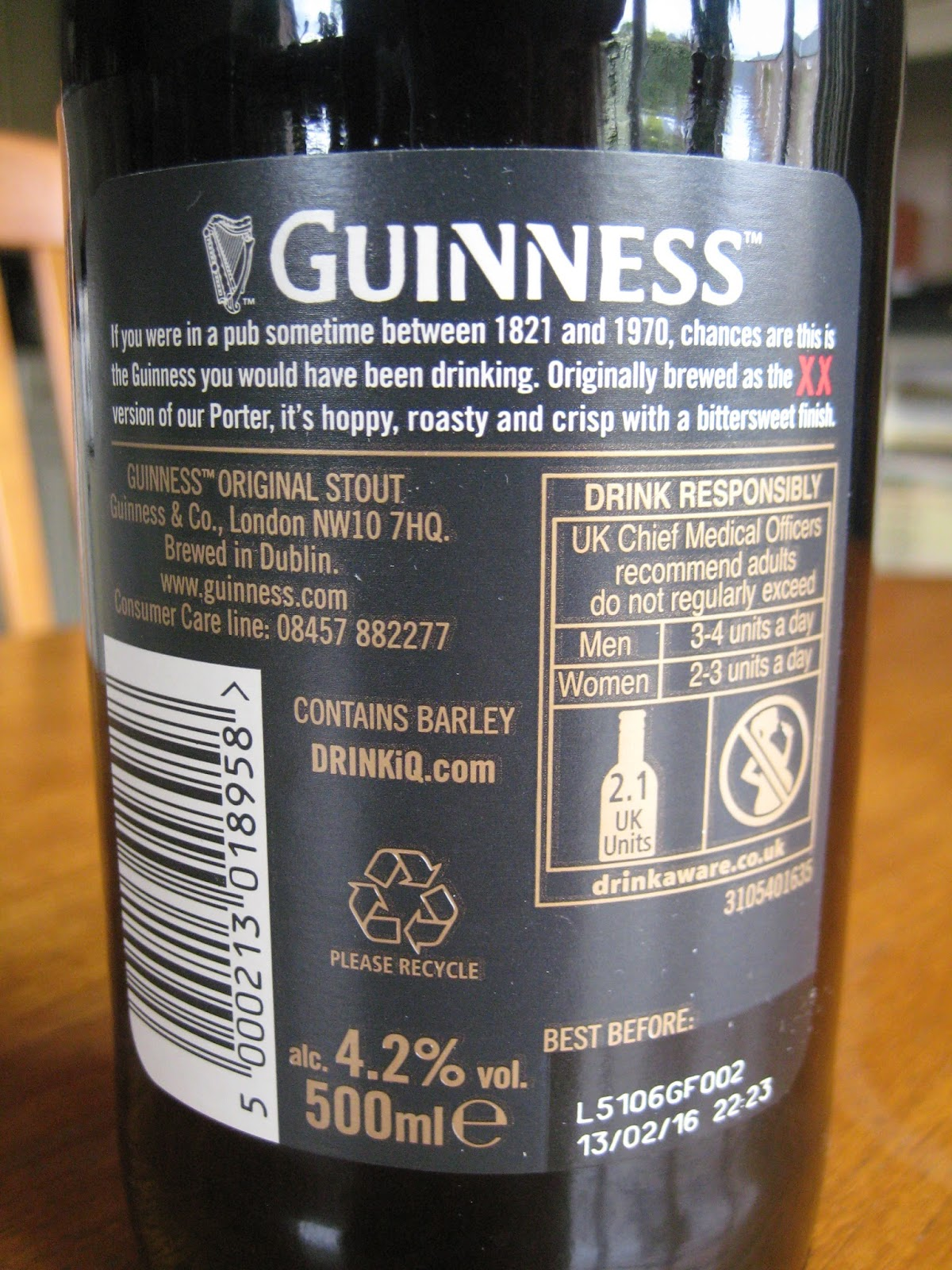 Great British Diet: NEW PACKAGING: Guinness Original