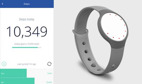 Oscar Health sur iPhone et bracelet Misfit