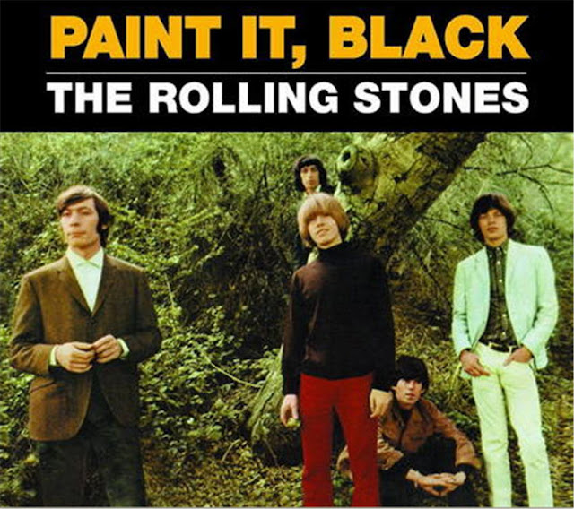 rolling stones paint it black single cover art 1966