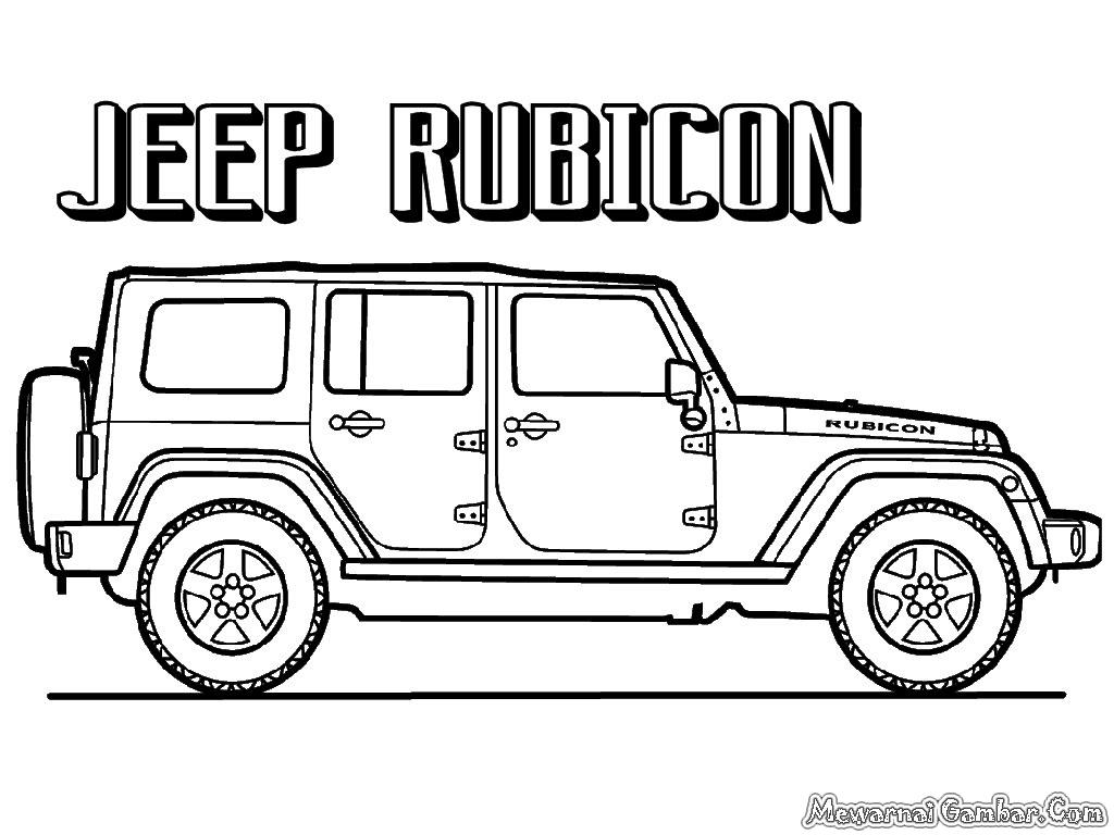 Mewarnai Gambar Mobil Jeep