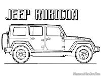 Mewarnai Gambar Mobil Jeep Wrangler Rubicon Untuk Anak