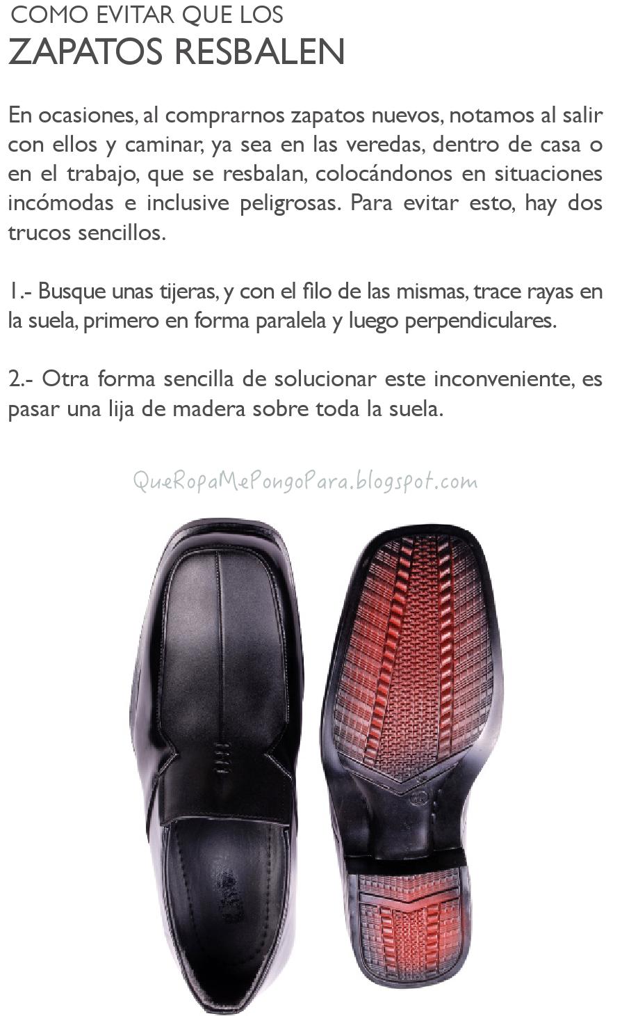 COMO EVITAR RESBALAR CON LOS ZAPATOS nuevos - outfits
