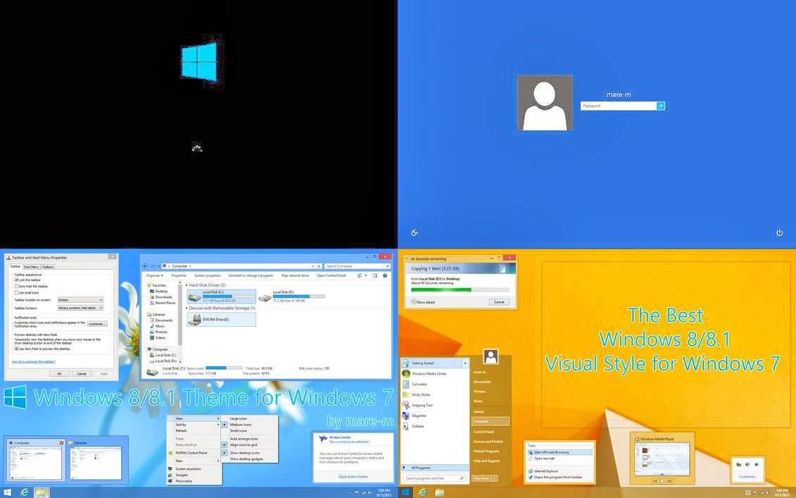 Tema Windows 8 untuk Windows 7/Vista/XP Download ROM
