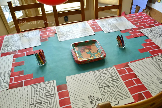 Wreck It Ralph Birthday Express movie party placemats