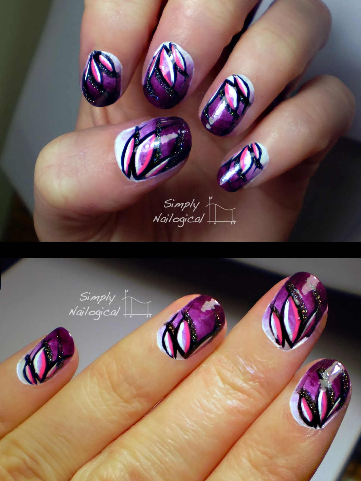 Simply Nailogical: Gradient Lotus Flower (archives again)