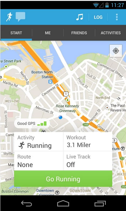 RunKeeper_Android Health and Fitness app