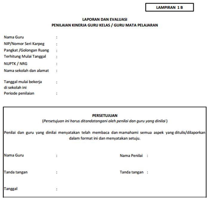 Penampakan Format PKG Lampiran 1B