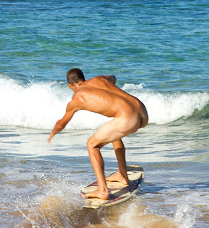 nude male hunks surfing