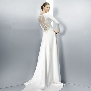 Long sleeved wedding dress 2, with statement back, by Jesus Peiro