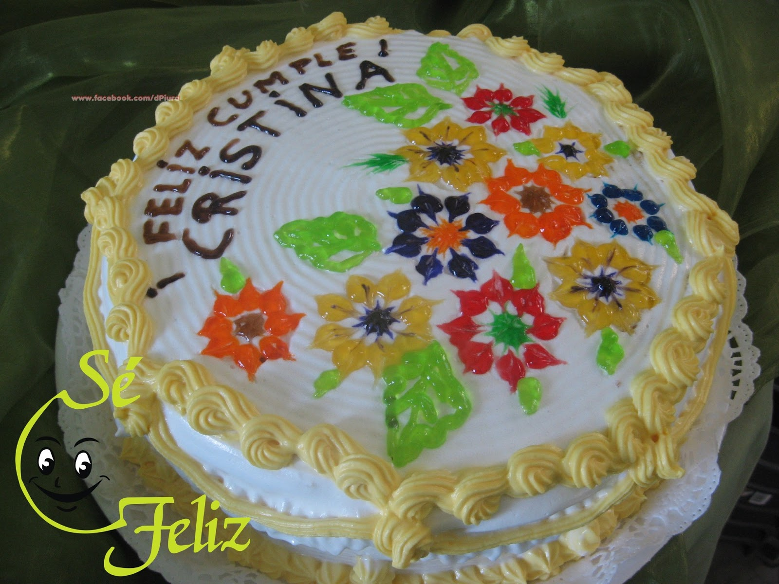 SÉ FELIZ: Tortas decoradas con merengue