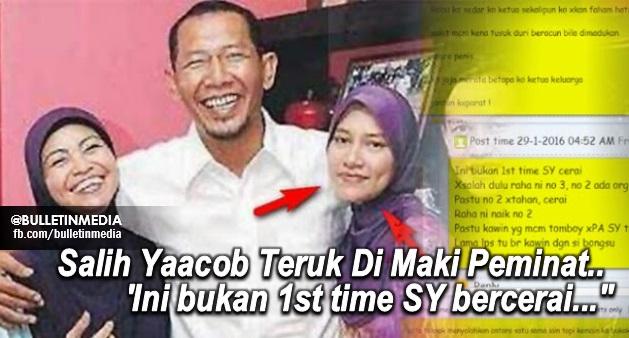"""Padah! Salih Yaacob Teruk Di Maki Peminat..""""Ini bukan 1st time SY bercerai..."""""""