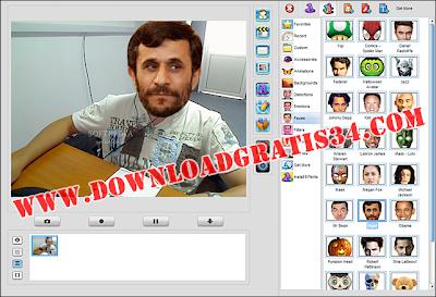 Efek animasi lucu webcammax 7.7.8.8