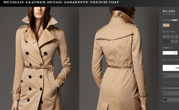 Còn áo khoác gắn mác Burberry tiêu tốn của người đẹp 2.195 USD (khoảng 47 triệu đồng).