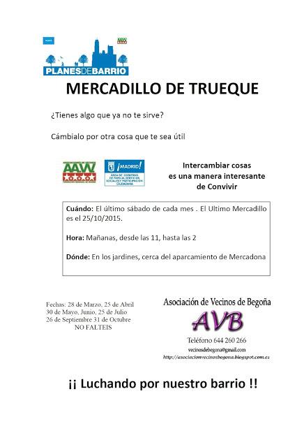 25 Octubre mercadillo de Trueque