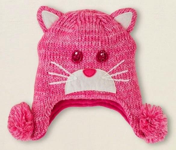 Örgü Çocuk Şapkaları Kedicikli Çocuk Şapkası