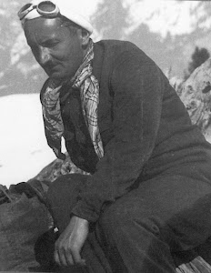 Heidegger Climbing in the Mountains near Davos....