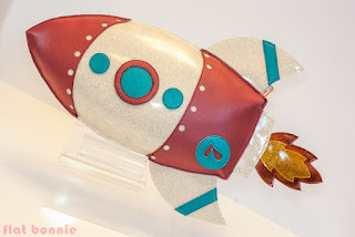 Flat-Bonnie-Space-Rocket-Stuffed-Animal-for-Deep-Space-Art-Show-Giant-Robot