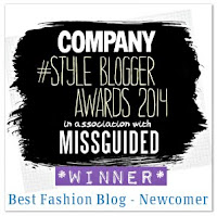 Company Magazine 'Best Fashion Blog - Newcomer' 2014