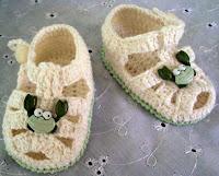 aprenda a fazer sandália infantil de crochê