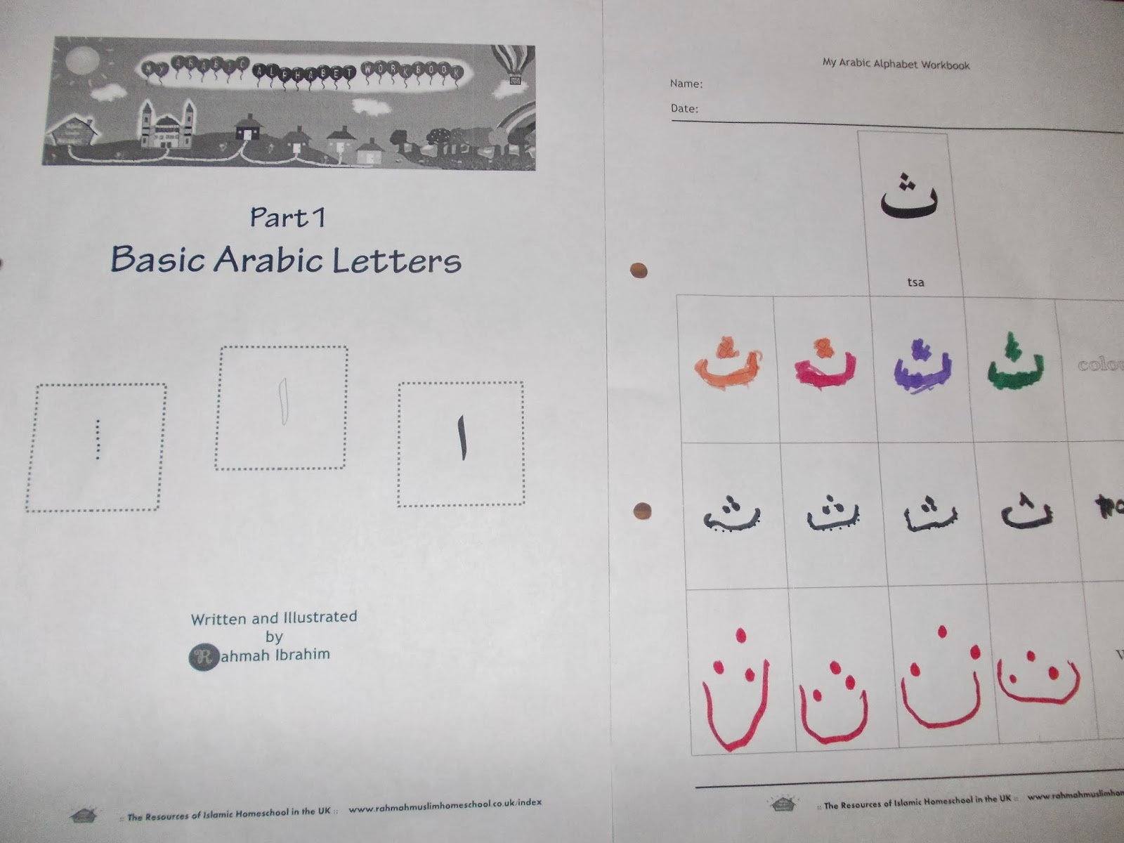 Arabic Alphabet Workbook
