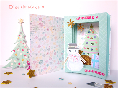 freebies descargables scrap tunnel book navidad