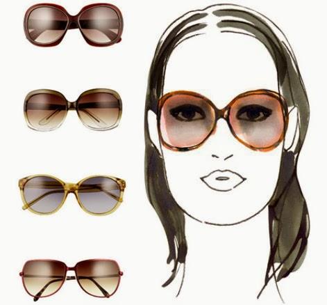 Kacamata untuk wajah persegi panjang/oblong