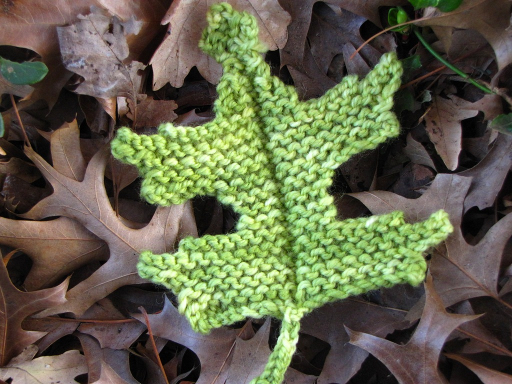 Pin Oak Leaf Knitting Pattern - Natural Suburbia