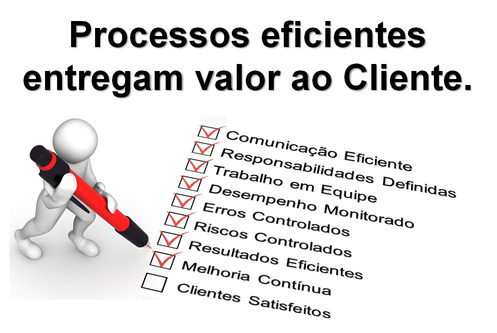Processos eficientes entregam valor ao Cliente.