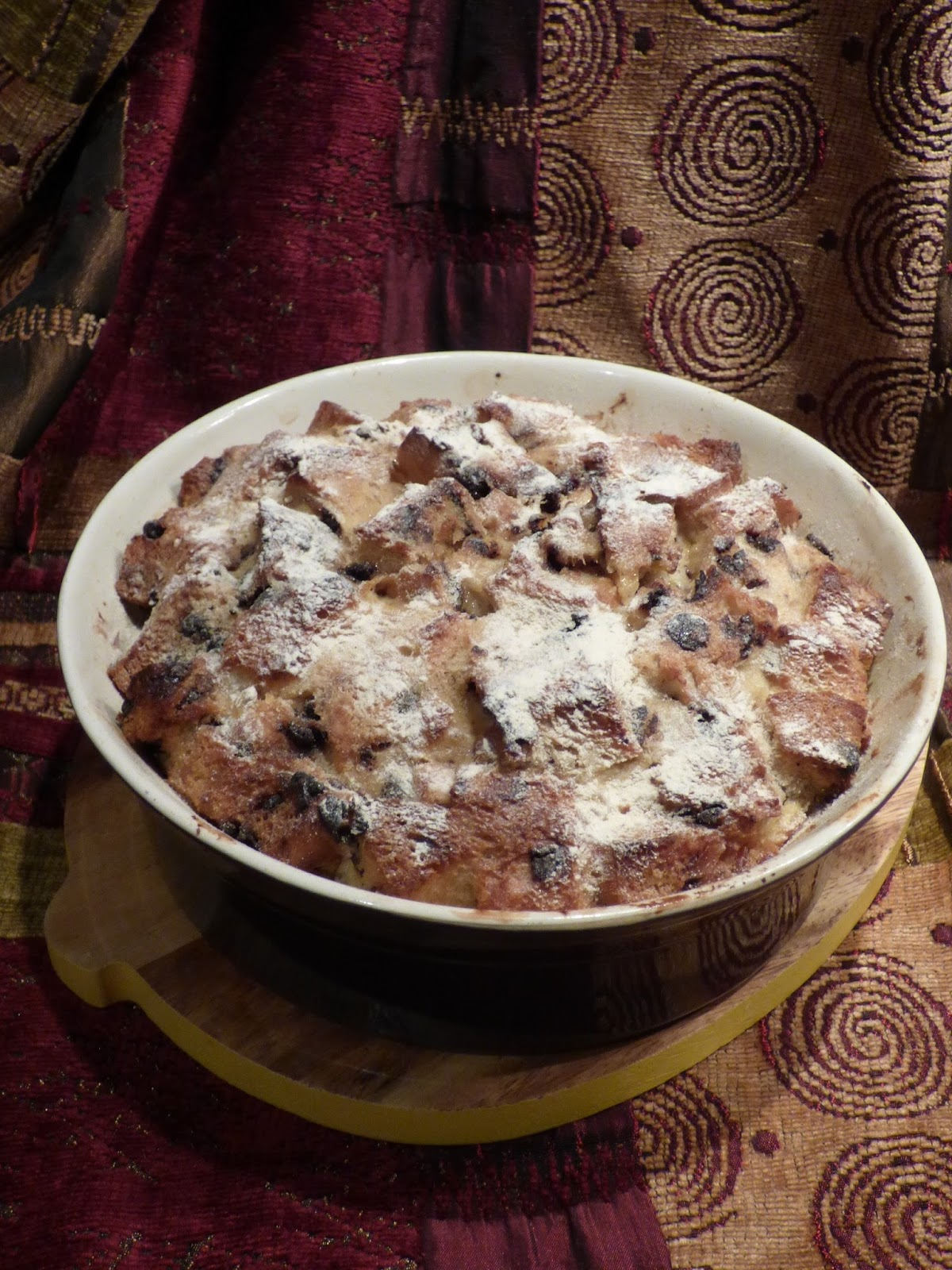 how to make bread and butter pudding with chocolate chips