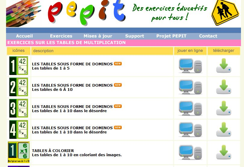 Scorpions des ardoises apprendre les tables de multiplication en s 39 amusant - Domino table de multiplication ...