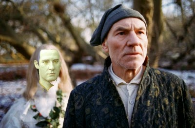 Professor X (Patrick Stewart) is visited by the Android of Christmas Past in TNT's 1999 adaptation of A CHRISTMAS CAROL. Make it so.