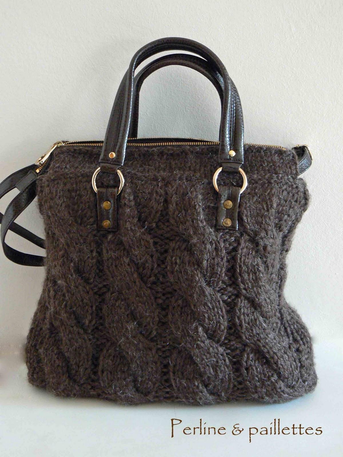 Borse Fatte A Mano Ai Ferri : Perline paillettes borsa in tricot