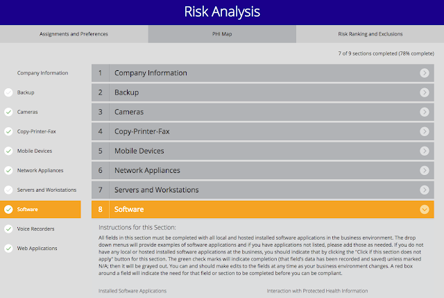 HIPAA Risk Analysis Software