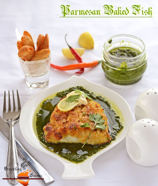 Baked Parmesan Fish with Green Pesto