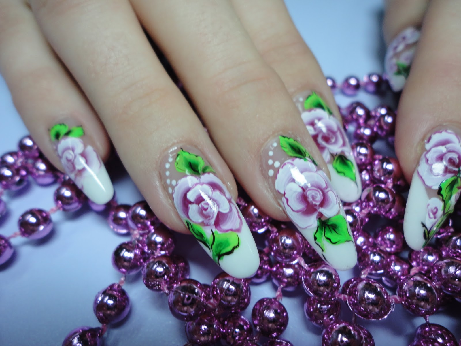 Acrylic Nails Painted Acrylic Nails By Natalia