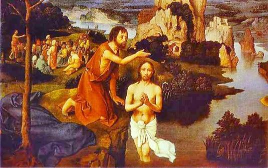 Joachim Patenier, The Baptism of Christ, 1515 (detail)