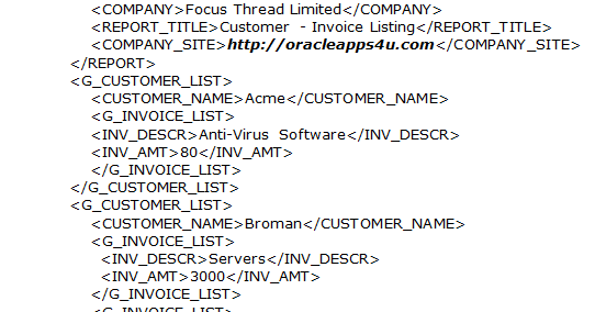 how to create rtf template for xml publisher
