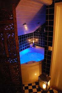 Badrummet på övre plan härlig relax