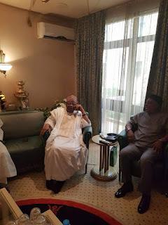 PDP chairman, Secondus meets with Babangida [PHOTOS]