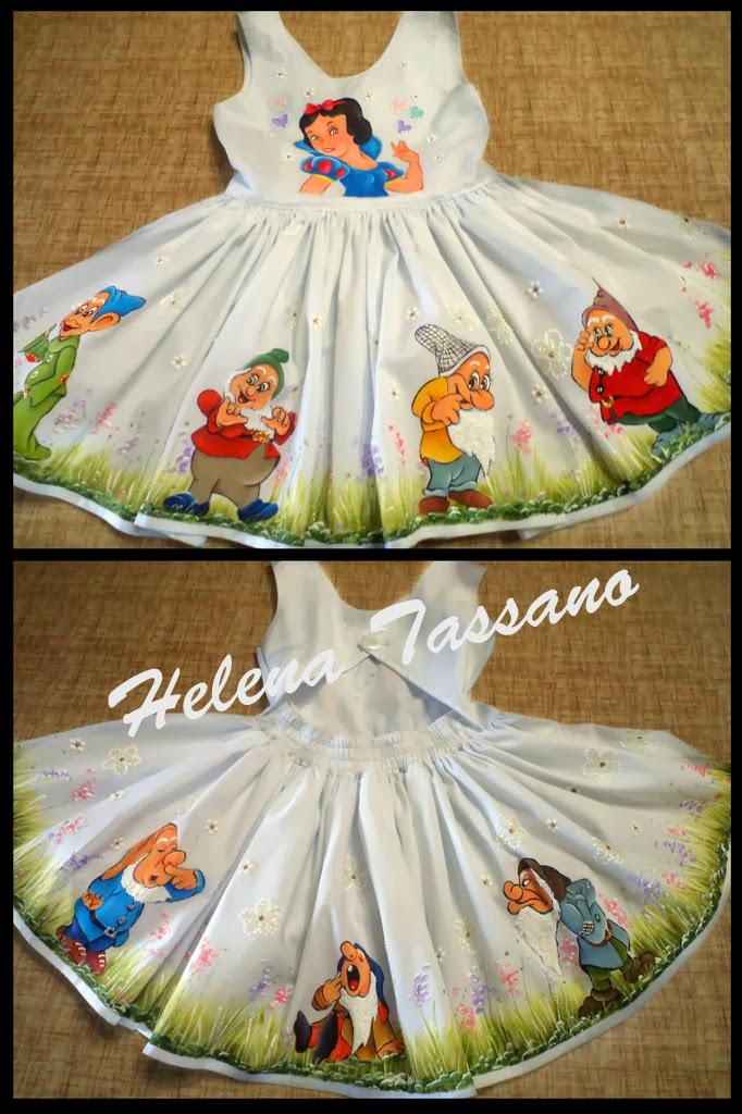 Artesanato Infantil Com Tecido ~ Helena Tassano Artesanato, Pintura em Tecido, Aulas de Pintura, Pintura sobre Tela Vestido